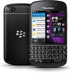 Quite el bloqueo de sim con el código del teléfono Blackberry Q10